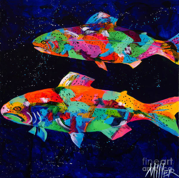 Tracy Miller Print featuring the painting Cool Waters by Tracy Miller