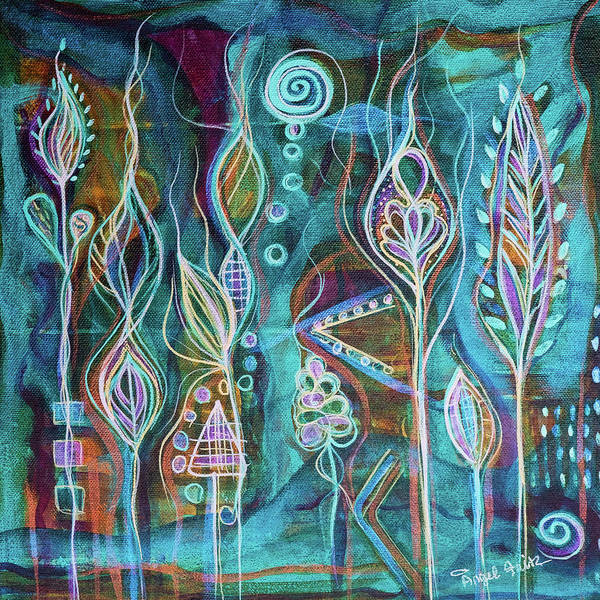 Intuitive Art Art Print featuring the painting Glow by Angel Fritz