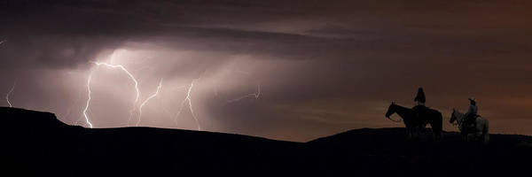 Lightning Art Print featuring the photograph Ghost Riders by Michael Van Beber