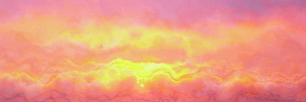 Abstract Art Art Print featuring the mixed media Above The Clouds - Abstract Art by Jaison Cianelli
