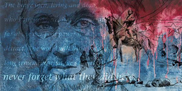Gettysburg Art Print featuring the painting Battle Of Gettysburg Tribute Day Three by Joe Winkler