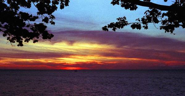 Sunset Art Print featuring the photograph 070506-68 by Mike Davis