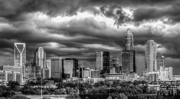 Charlotte Art Print featuring the photograph Ominous Charlotte Sky by Chris Austin