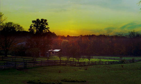 Sunrise Art Print featuring the photograph 101908-1 by Mike Davis