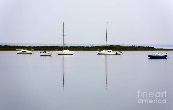 Boat Reflections Art Print featuring the photograph Boat Reflections by John Rizzuto