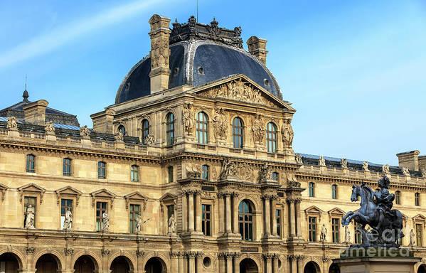 Palais Du Louvre Art Print featuring the photograph Palais Du Louvre Paris by John Rizzuto