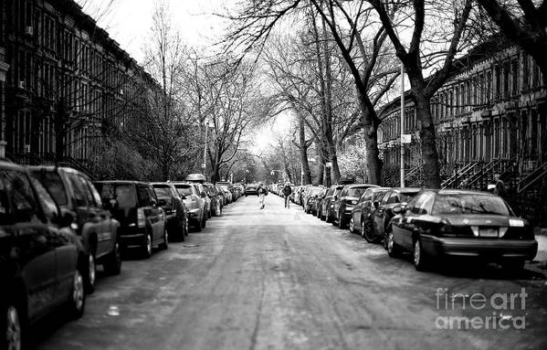 Park Slope Street Light Art Print featuring the photograph Park Slope Street Light by John Rizzuto