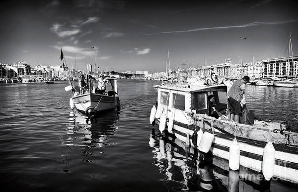 Docking At The Market Art Print featuring the photograph Docking At The Market by John Rizzuto