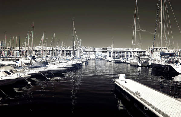 Dock In The Port Art Print featuring the photograph Dock In The Port by John Rizzuto