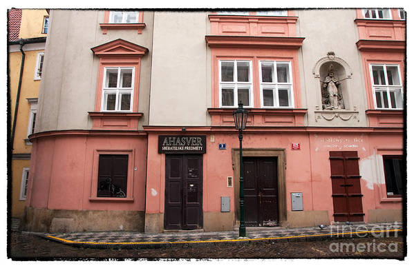 Door Choices In Prague Art Print featuring the photograph Door Choices In Prague by John Rizzuto