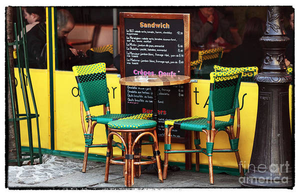 Green And Yellow In Paris Art Print featuring the photograph Green And Yellow In Paris by John Rizzuto