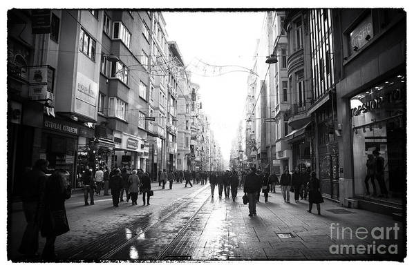 Istaklal Caddesi Art Print featuring the photograph Istiklal Caddesi by John Rizzuto