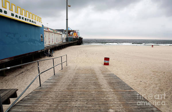 Seaside Heights Beach Print featuring the photograph Seaside Heights Beach by John Rizzuto