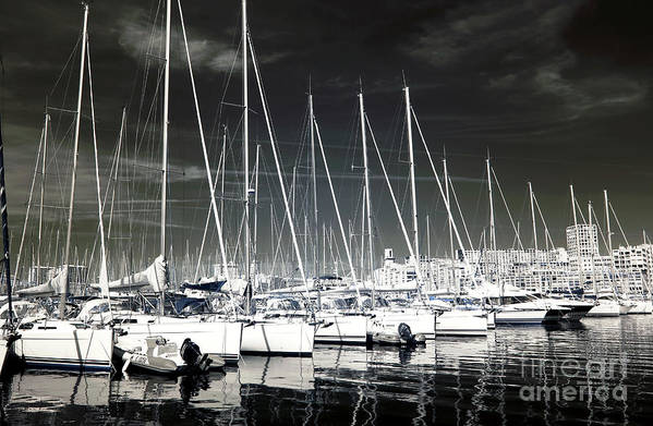 Lined Up In Marseille Art Print featuring the photograph Lined Up In Marseille by John Rizzuto