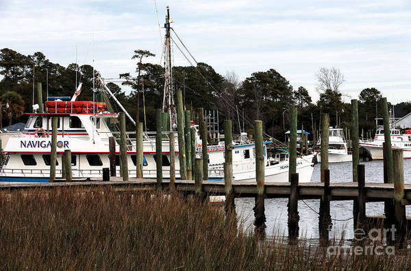Boats At Little River Print featuring the photograph Boats At Little River by John Rizzuto