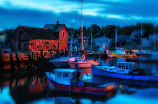 Motif Number One Print featuring the photograph Motif No 1 Rockport Massachusetts by Thomas Schoeller