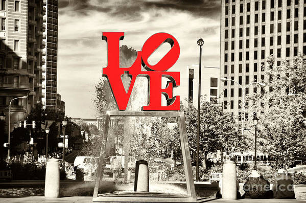 Philadelphia Love Art Print featuring the photograph Philadelphia Love Mixed by John Rizzuto