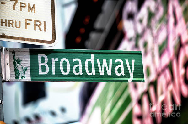 Broadway Art Print featuring the photograph Broadway by John Rizzuto