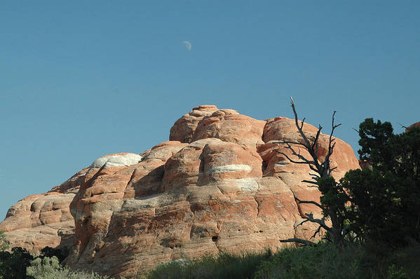 Arches National Park Art Print featuring the photograph Moonrise At Arches No. 1 by Karen Garvin