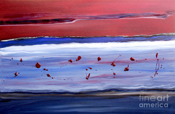 Abstract Art Print featuring the painting Only One by Paul Anderson