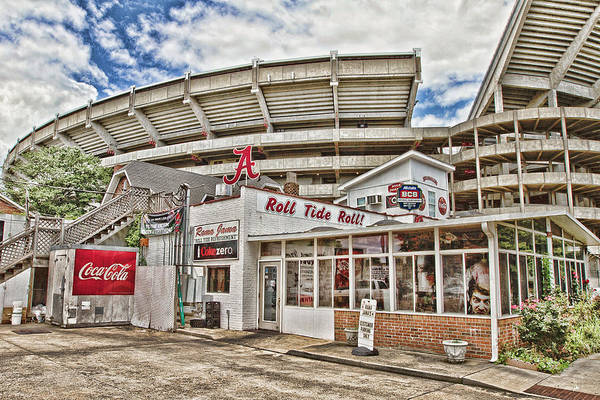 Hdr Art Print featuring the photograph Shadow Of The Stadium by Scott Pellegrin