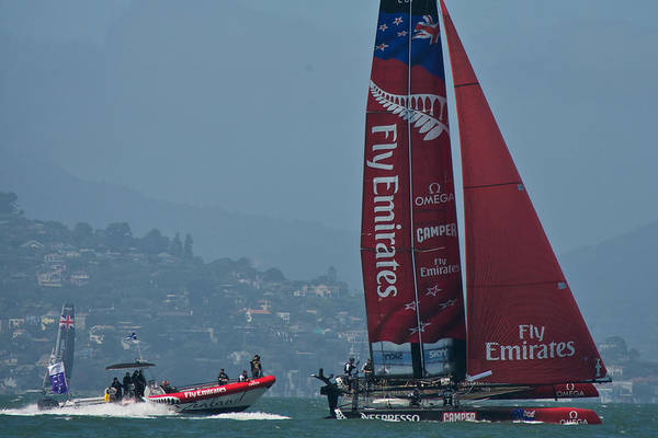 Emirates Print featuring the photograph Emirates Team New Zealand by Steven Lapkin