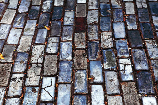 Brick Street Art Print featuring the photograph Brick Street by John Rizzuto
