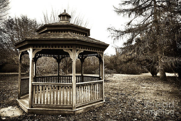 Gazebo Art Print featuring the photograph Gazebo by John Rizzuto