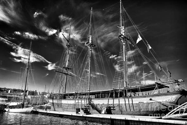 Old World Sailboat Art Print featuring the photograph Old World Sailboat by John Rizzuto
