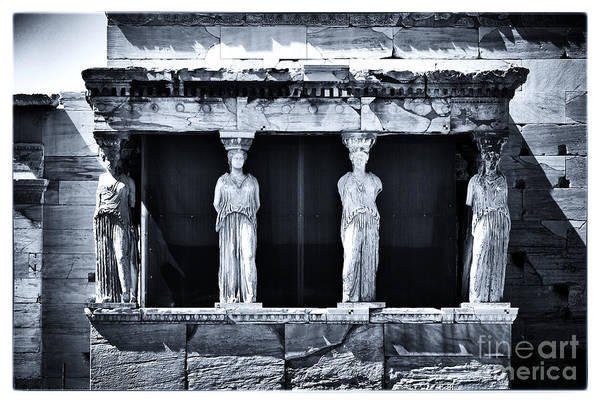 Porch Of The Caryatids Art Print featuring the photograph Porch Of The Caryatids by John Rizzuto