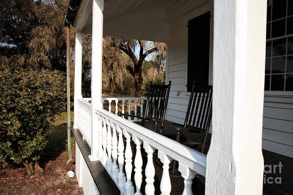 Porch View Print featuring the photograph Porch View by John Rizzuto