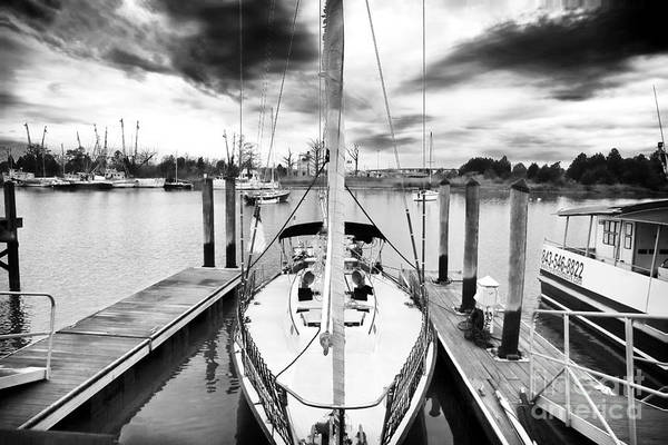Sailboat Docked Art Print featuring the photograph Sailboat Docked by John Rizzuto