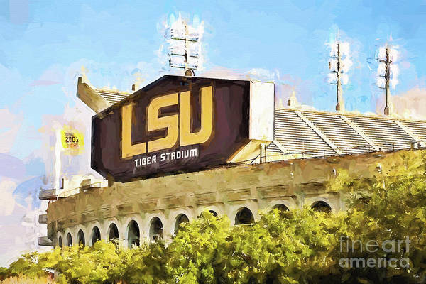 Lsu Art Print featuring the photograph Tiger Stadium by Scott Pellegrin