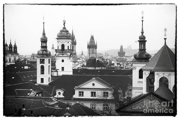Towers Of Prague Art Print featuring the photograph Towers Of Prague by John Rizzuto