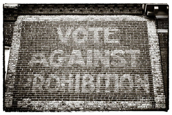 Vote Against Prohibition Art Print featuring the photograph Vote Against Prohibition IIi by John Rizzuto