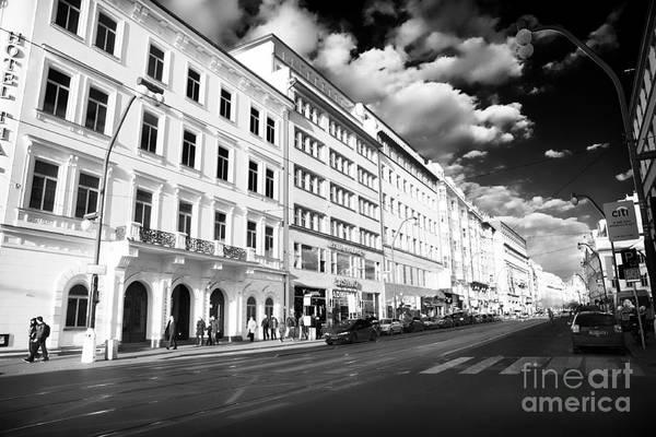 White Buildings In Prague Art Print featuring the photograph White Buildings In Prague by John Rizzuto