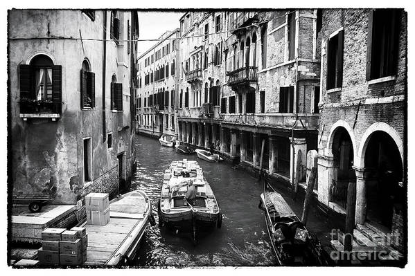 Working On The Canal Art Print featuring the photograph Working On The Canal by John Rizzuto