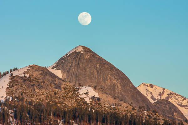 Landscape Art Print featuring the photograph Moon Over Sierra Peak by Marc Crumpler