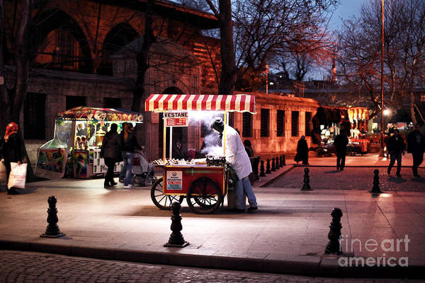 Chestnuts At Night Art Print featuring the photograph Chestnuts At Night by John Rizzuto