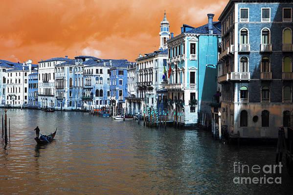 Grand Canal Pop Art Art Print featuring the photograph Grand Canal Pop Art by John Rizzuto