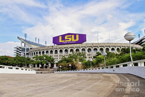 Tiger Stadium Print featuring the photograph Lsu Tiger Stadium by Scott Pellegrin