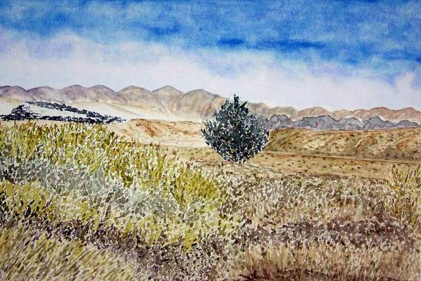 Desert Art Art Print featuring the painting Onyo National Forest by Larry Wright