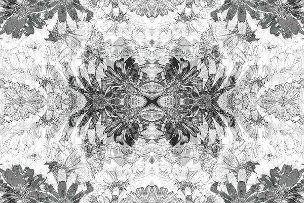 Nature Art Print featuring the digital art Ornament Flower by Efrat Fass