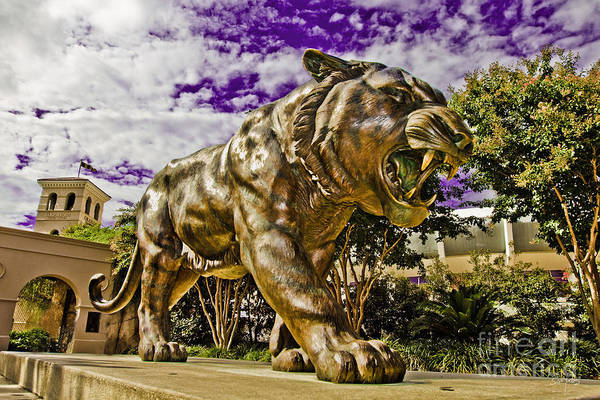 Statue Print featuring the photograph Purple And Gold by Scott Pellegrin