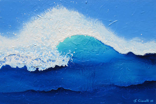Contemporary Art Print featuring the painting Spiral Wave by Jaison Cianelli