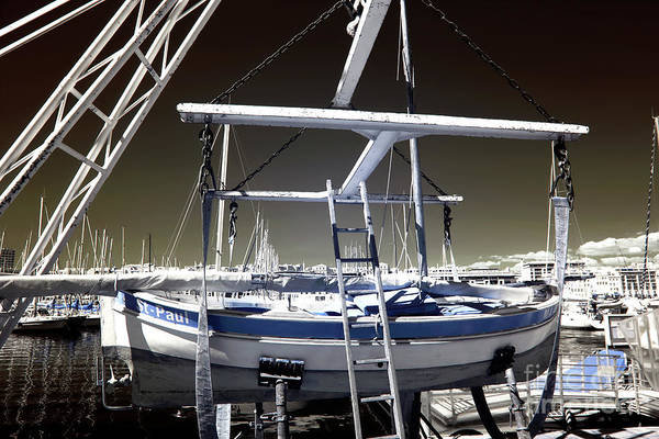 Working On The Boat Art Print featuring the photograph Working On The Boat by John Rizzuto