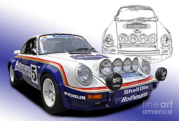 Porsche 911 Scrs Group B Rally Car Art Print By Tad Gage