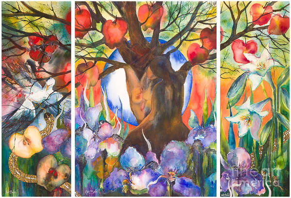 Tree Of Life Art Print featuring the painting The Tree Of Life by Kate Bedell