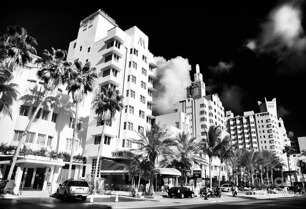 Collins Avenue Print featuring the photograph Collins Avenue by John Rizzuto