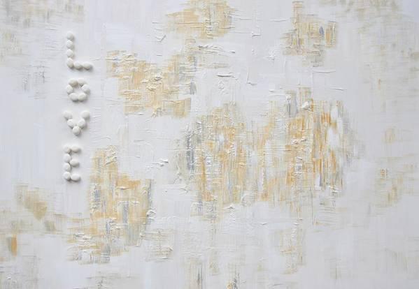 Acrylic On Canvas Art Print featuring the painting Love by Janie Apostolakos